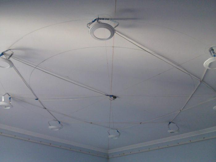 разметка и подготовка потолка