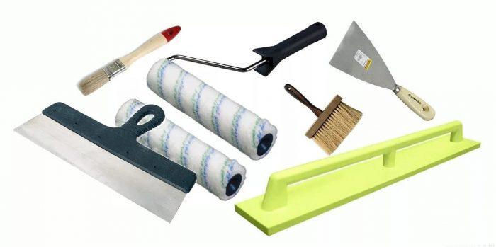 инструменты и материалы для работ
