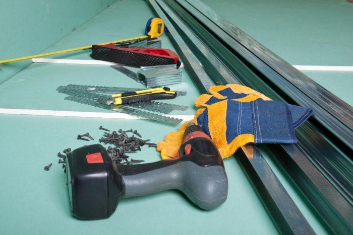 инструменты и материал для работы