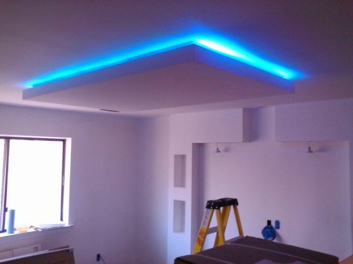 короб на потолке с подсветкой