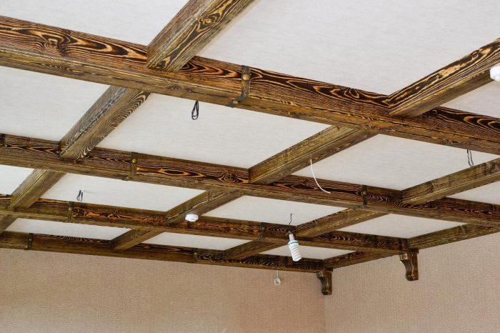 фальш балки потолочные из дерева