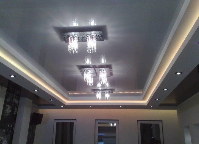 рамочный потолок из гипсокартона