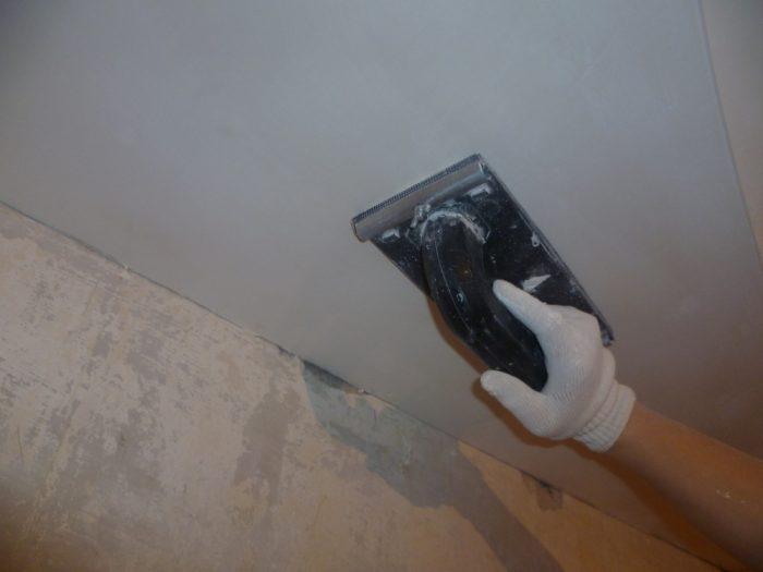 шлифовка потолка