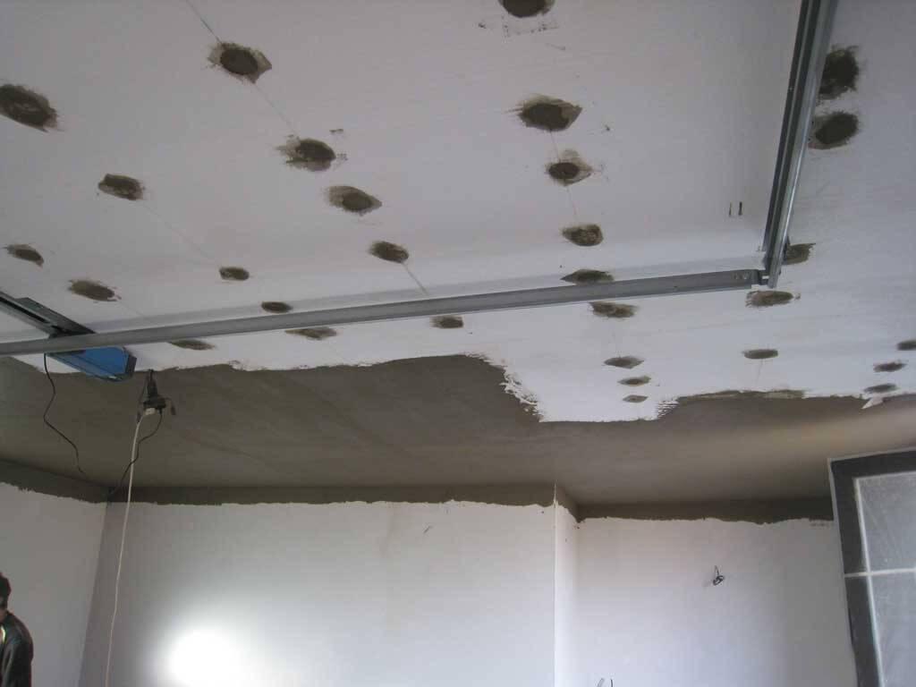 утепление потолка пенопластом