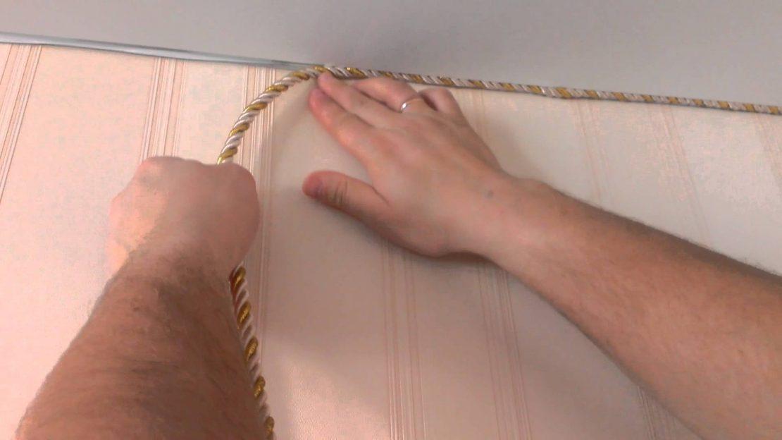 технология монтажа потолочного шнура
