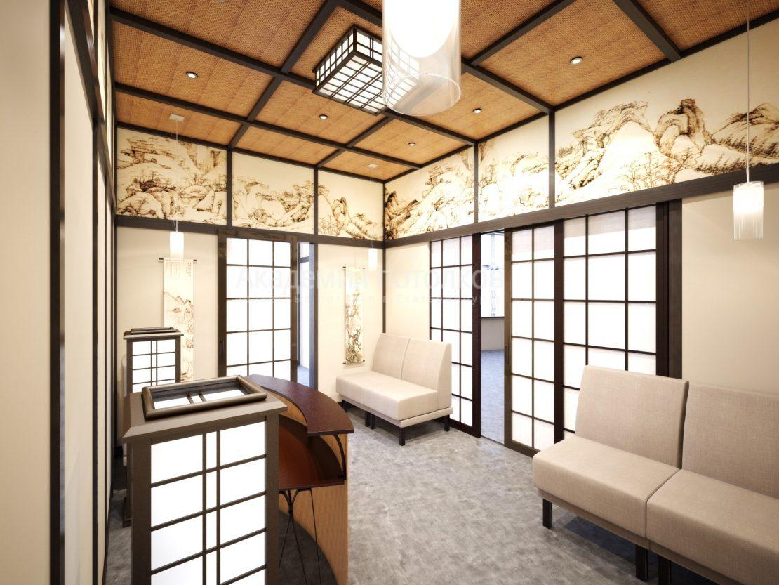 деревянный кассетный потолок