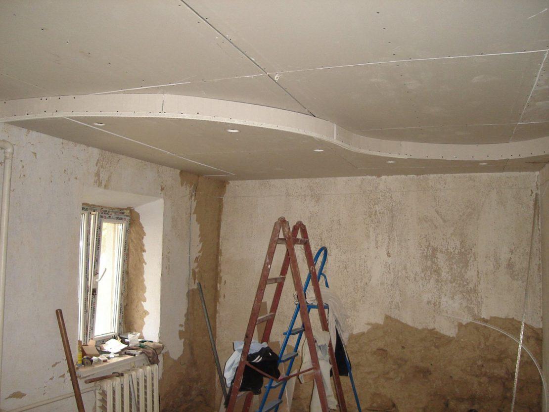 бюджетный ремонт потолка