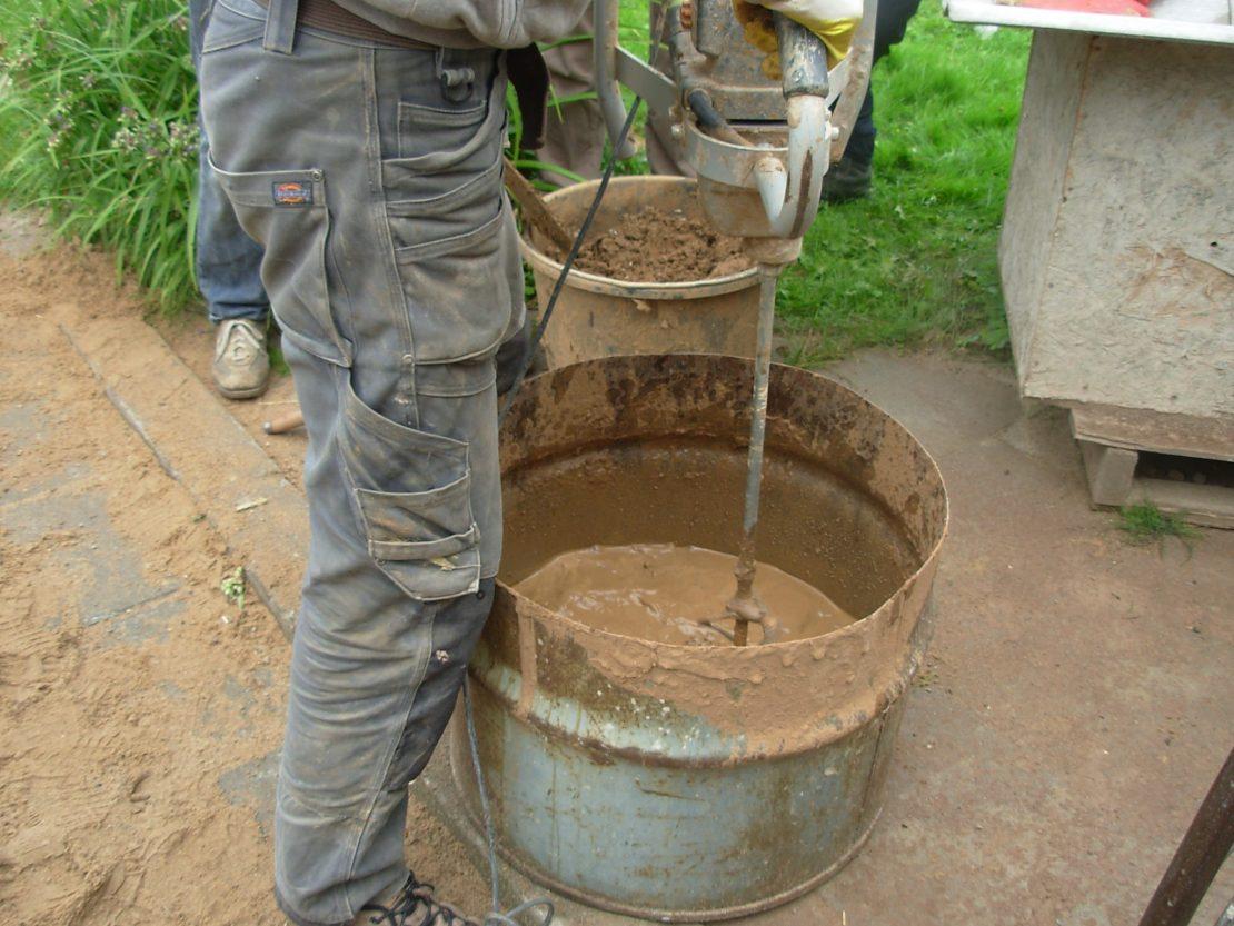 приготовление глины с опилками