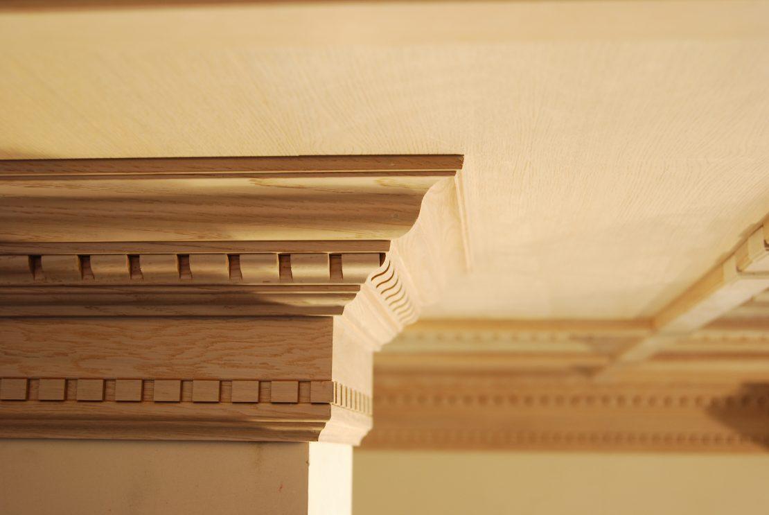 потолочные молдинги из древесины