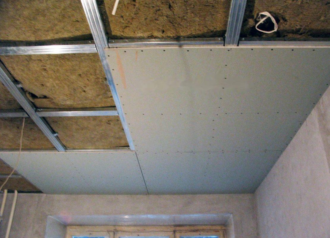 потолки из ГКЛ в гараже