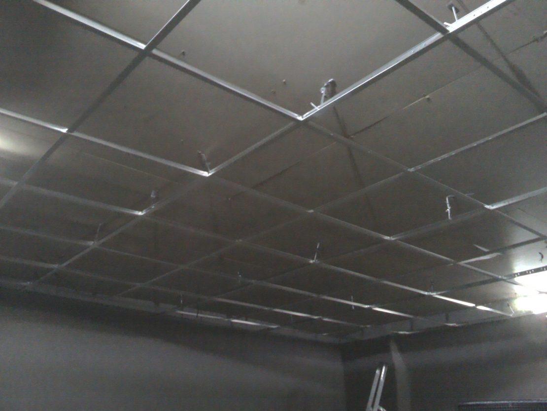 обустройство каркаса на потолке