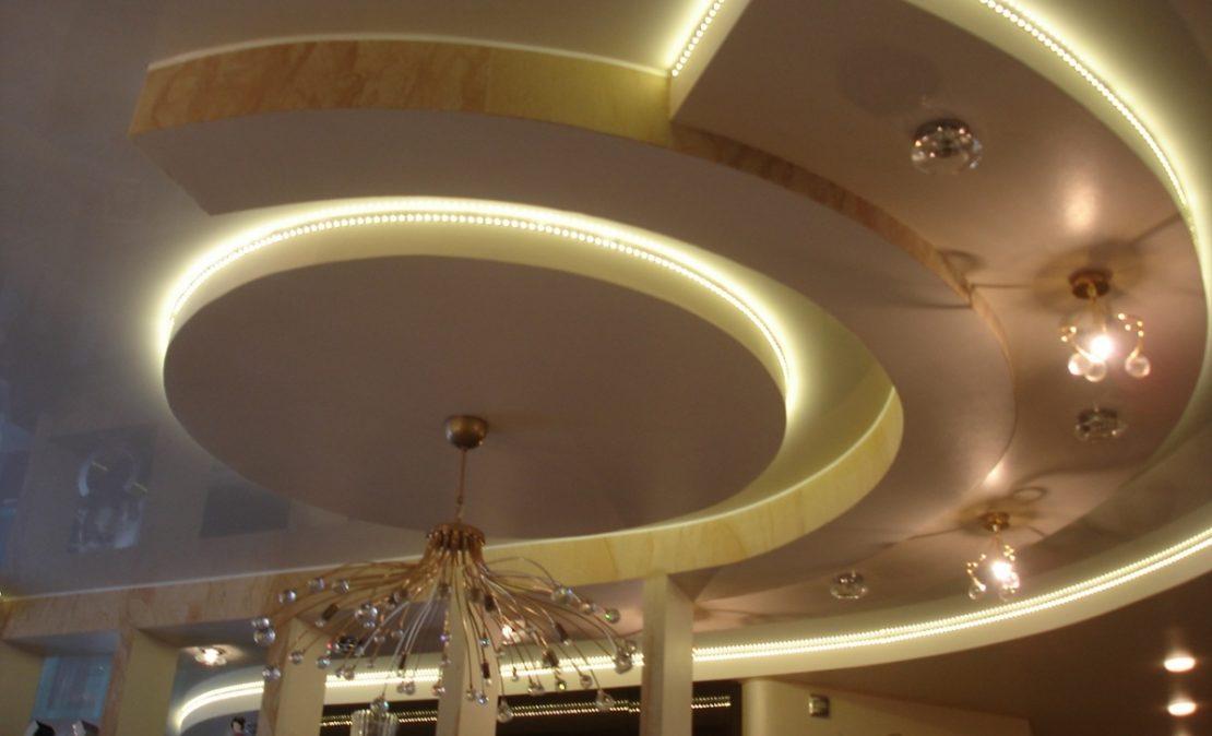 разновидности потолков в два уровня