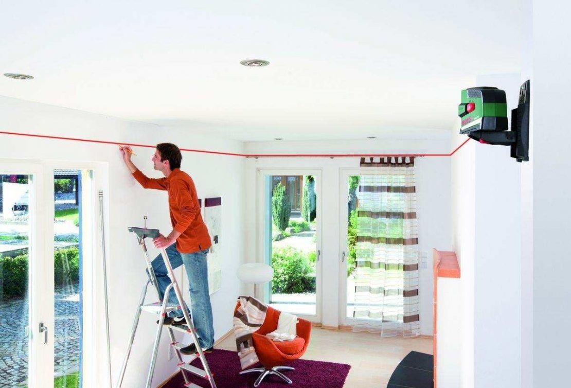 разметка потолка в помещении