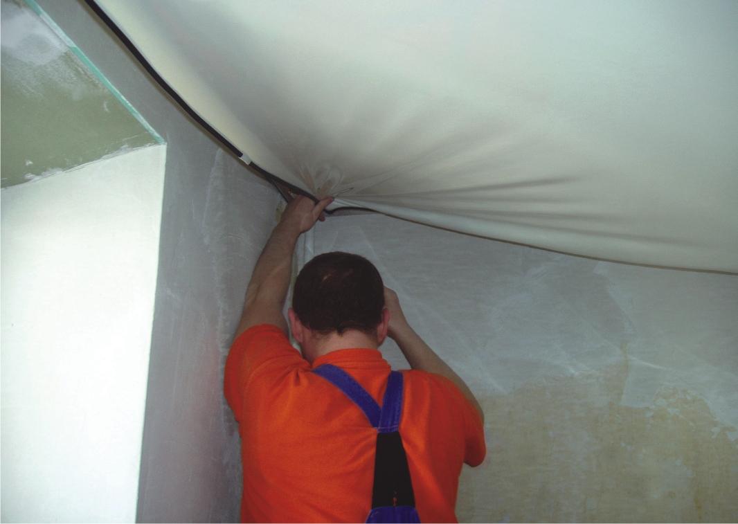 холодный способ установки потолка