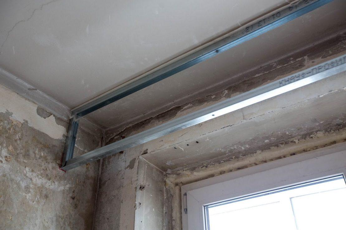 закладные под натяжное потолочное покрытие