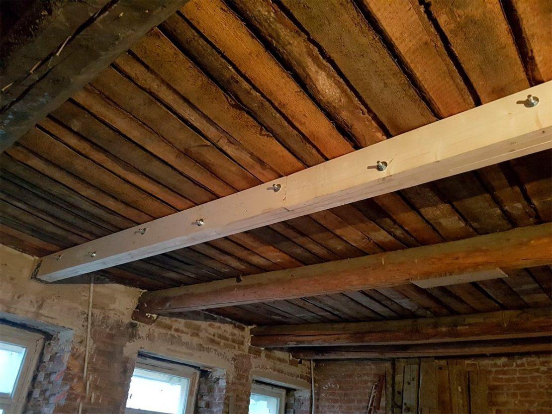 усиление потолочной поверхности